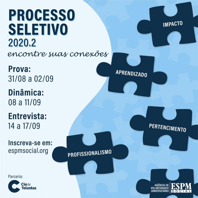 Peça desenvolvida para o Processo Seletivo 2020.2
